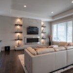 Custom Home Living Rooms