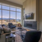 Kestrel Ridge – Show Home Living Room with fireplace