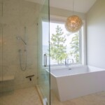 Freestanding bathtub and shower