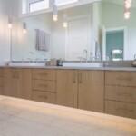 Ensuit floating bathroom counter