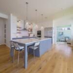 A beautiful white and gray kitchen