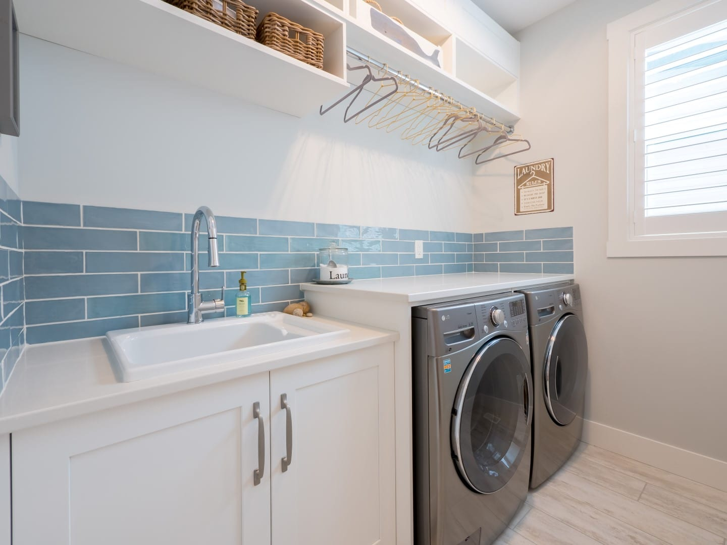 Natalie and Jeff (21), Bright Laundry Rooms