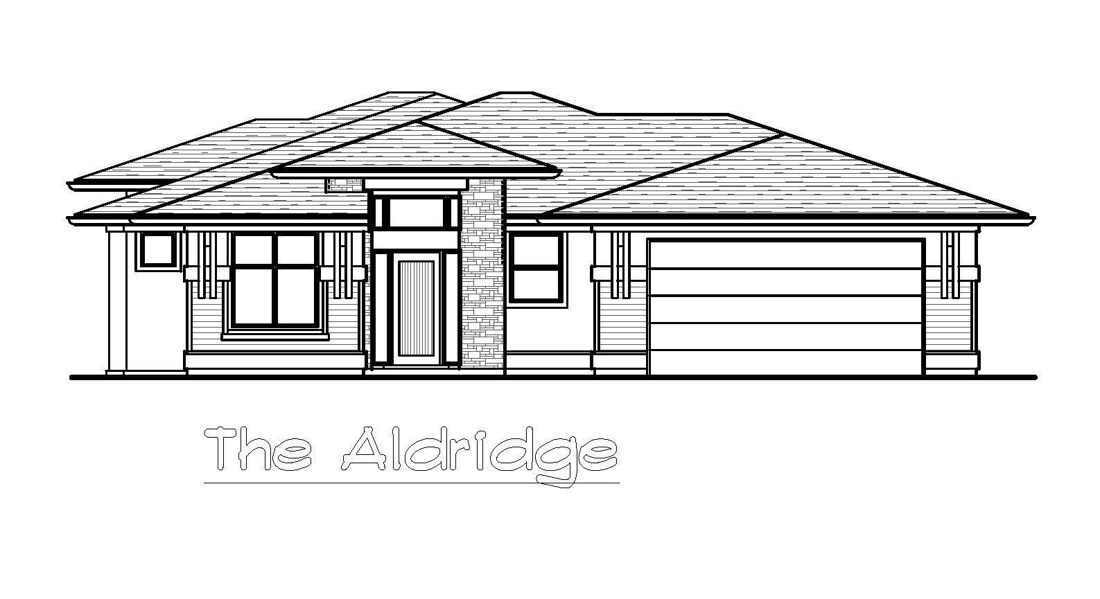 The Aldridge - Custom Home Floor Plan 1