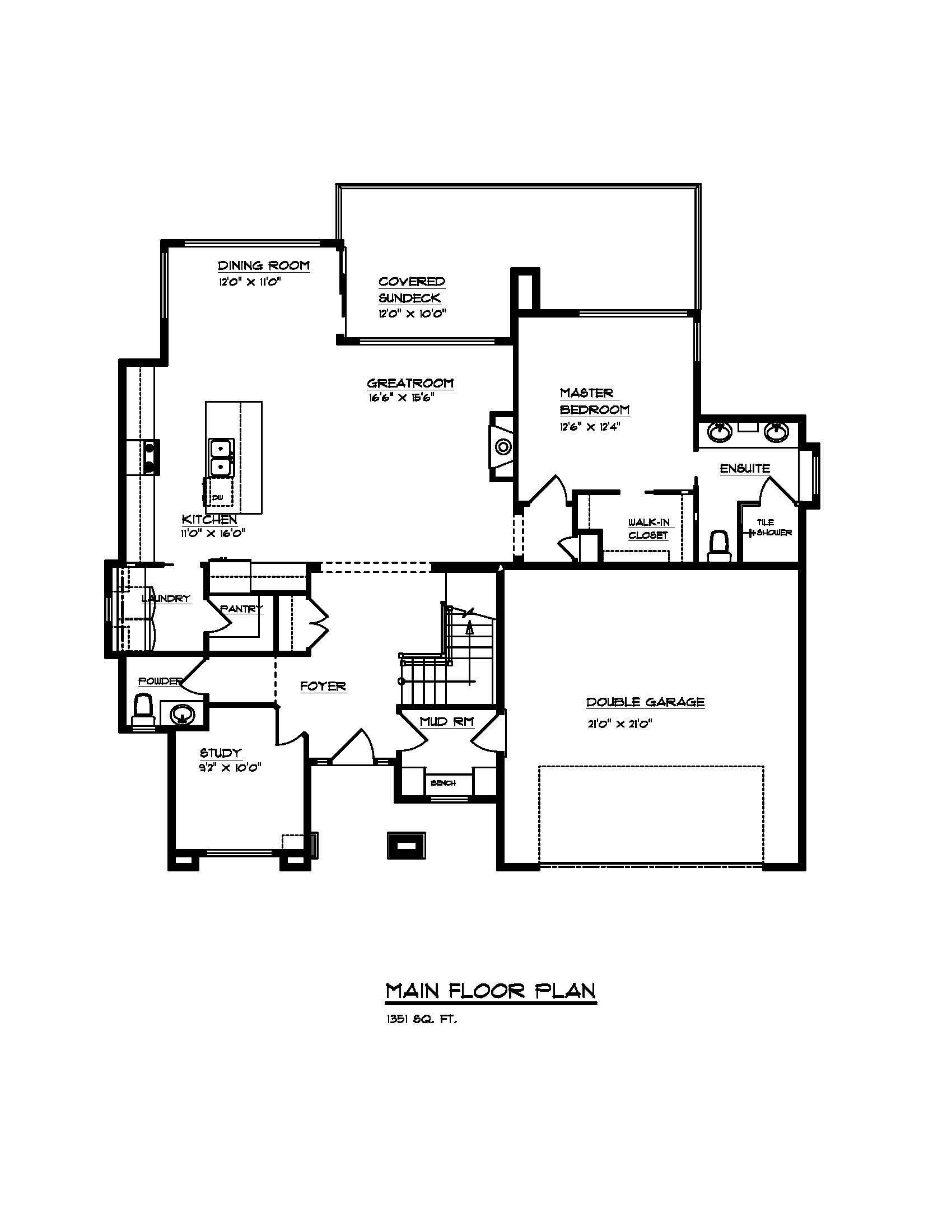 The Auburn - Custom Home Floor Plan 3