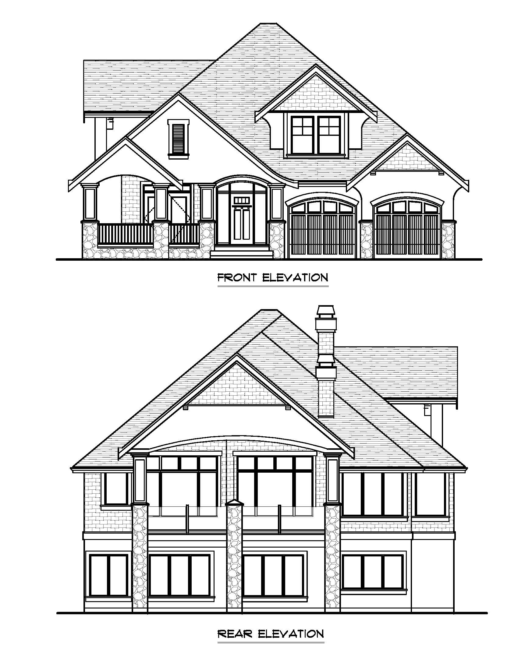 The Arbor - Custom Home Floor Plan Exterior