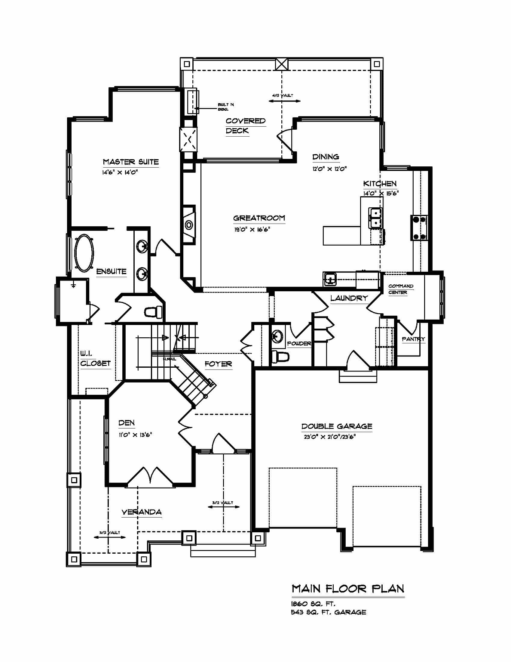 The Arbor - Custom Home Floor Plan 2