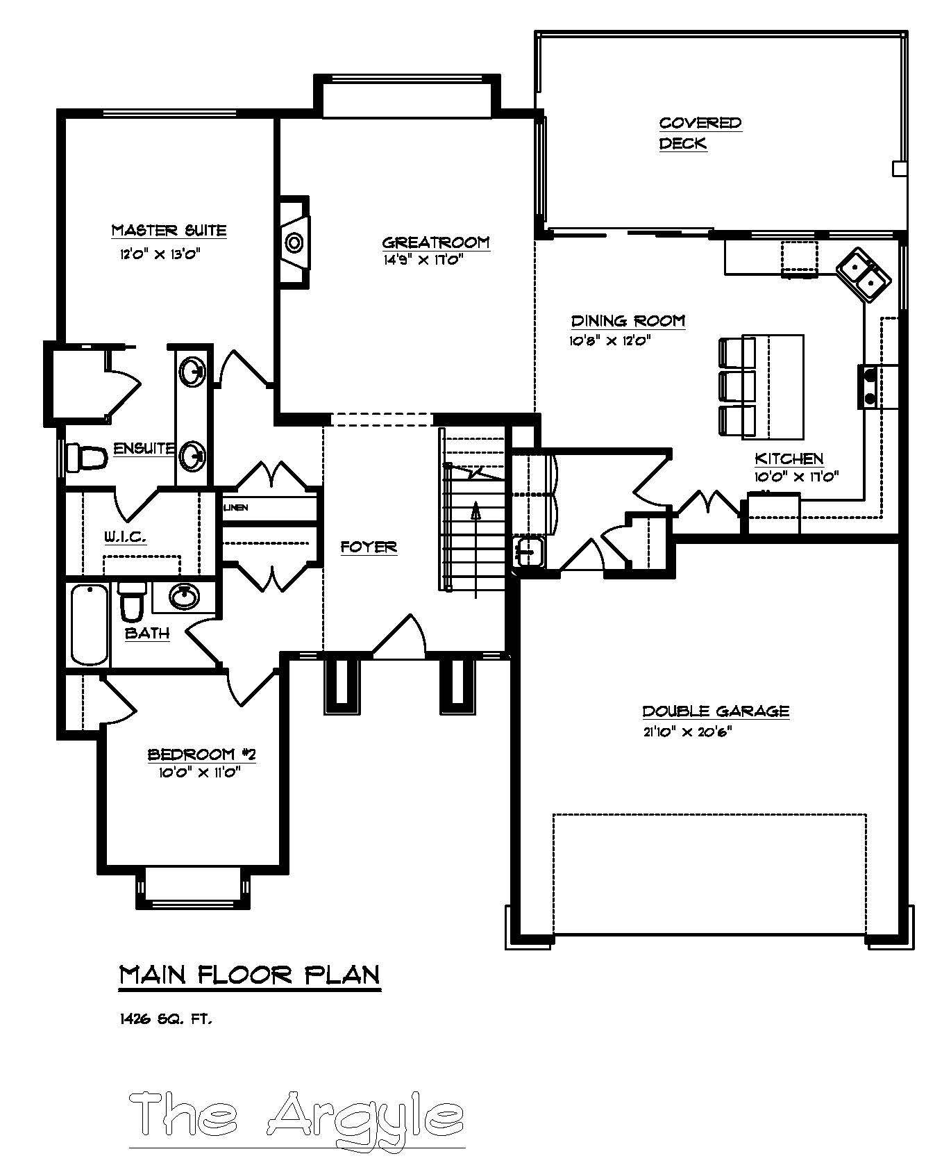 The Argyle - Custom Home Floor Plan 3