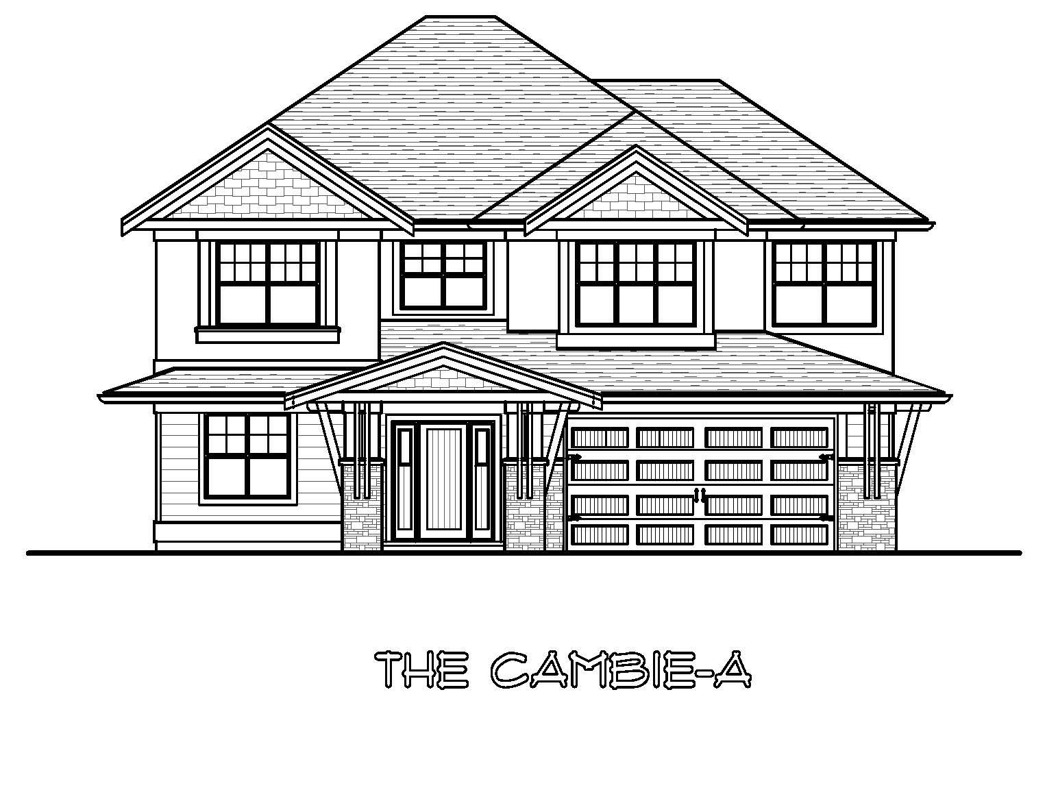 The Cambie - Custom Home Floor Plan 1