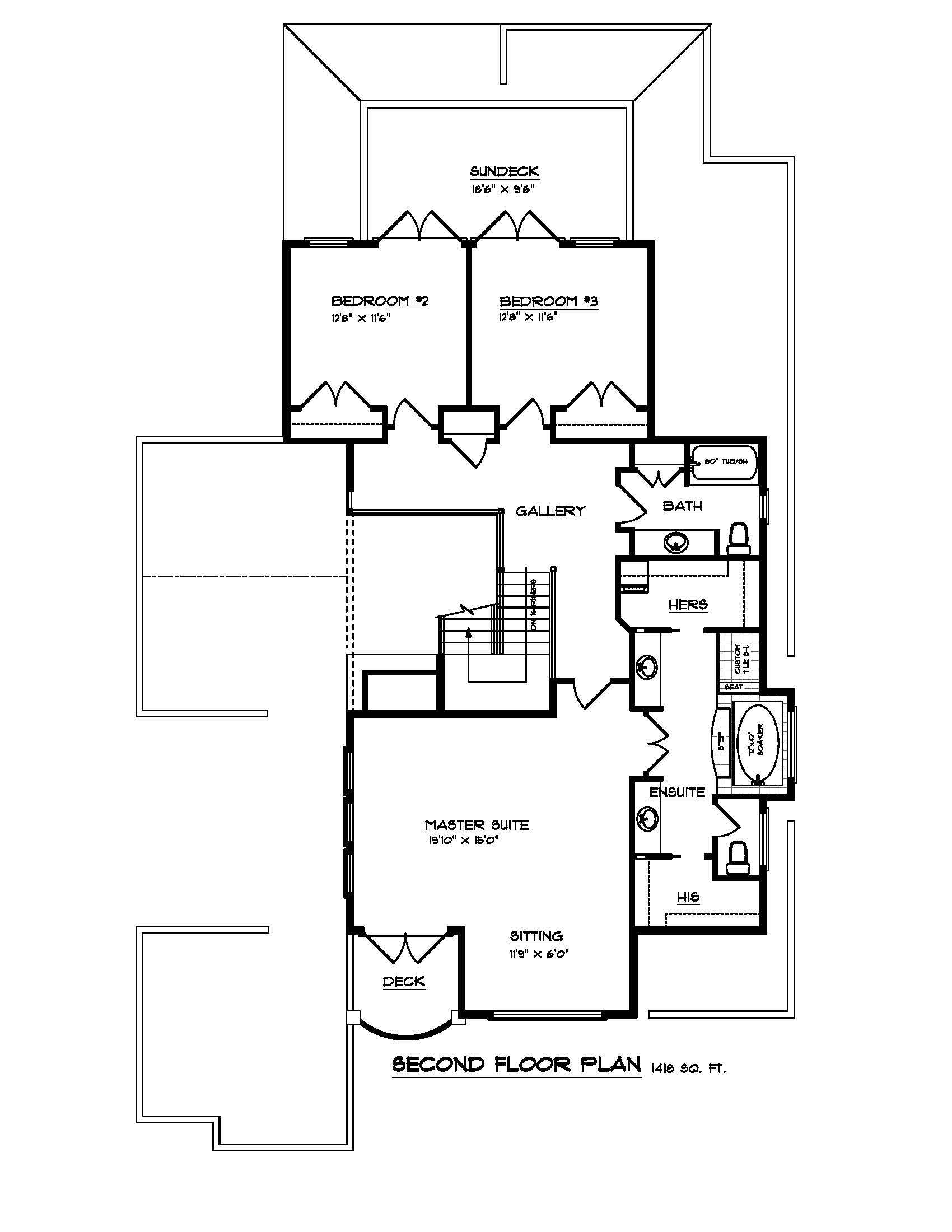The Cordova - Custom Home Floor Plan 3
