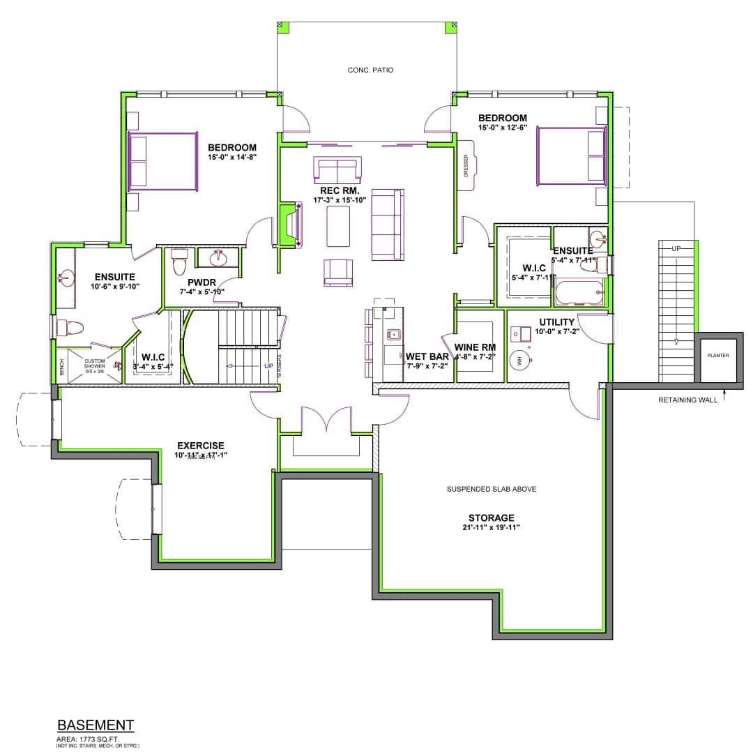 The Kino - Custom Home Floor Plan 3