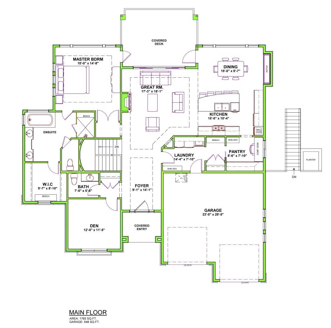 The Kino - Custom Home Floor Plan 4