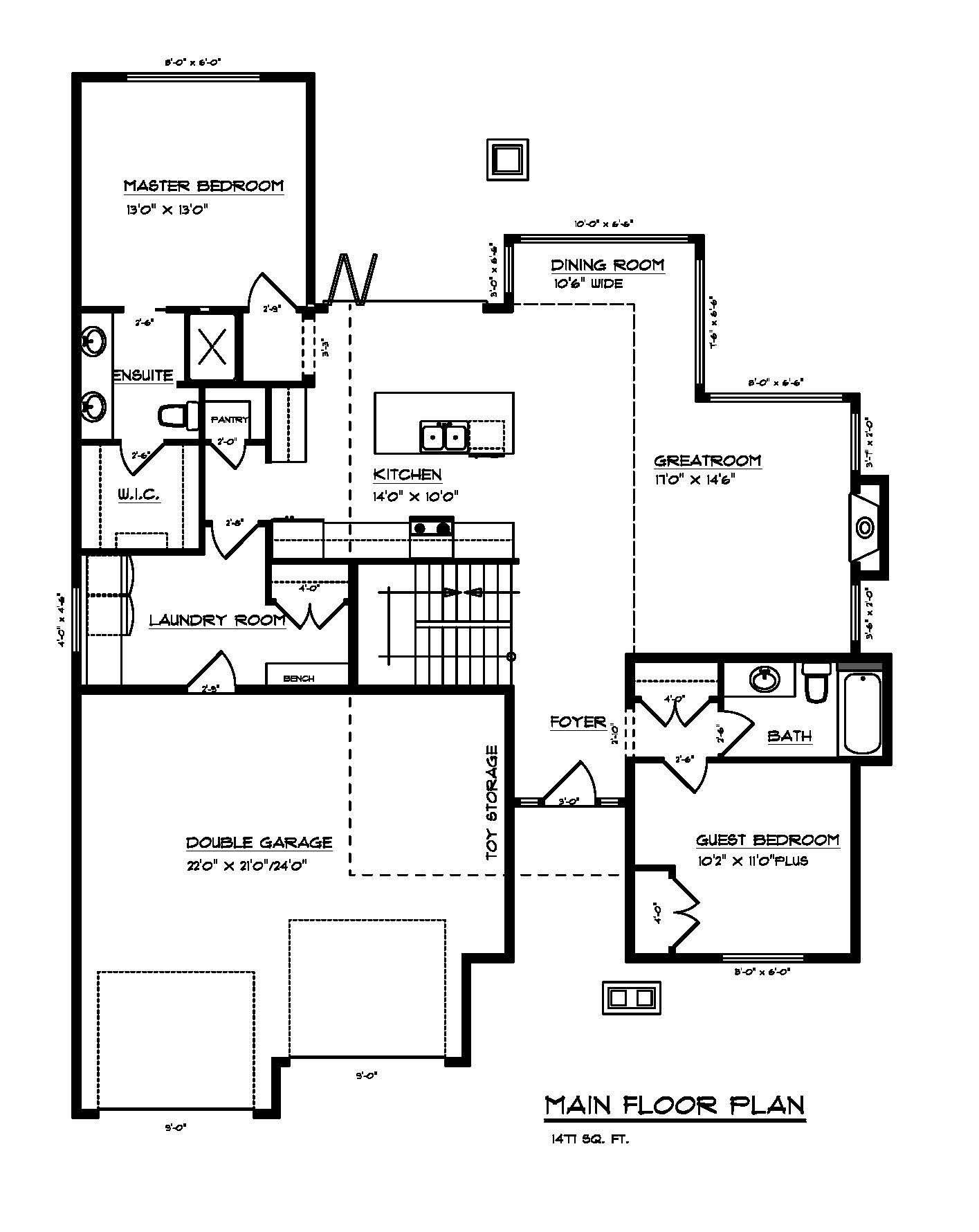 Little Rock Custom Home Floor Plan 3