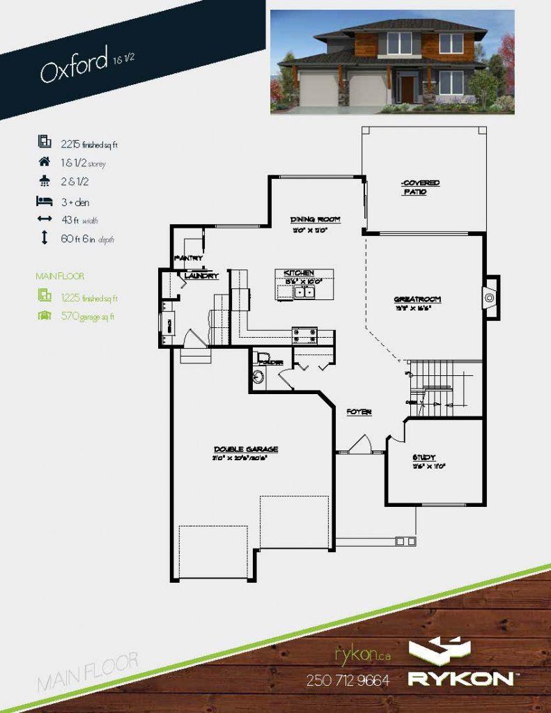 The oxford custom home plan for Oxford floor plan