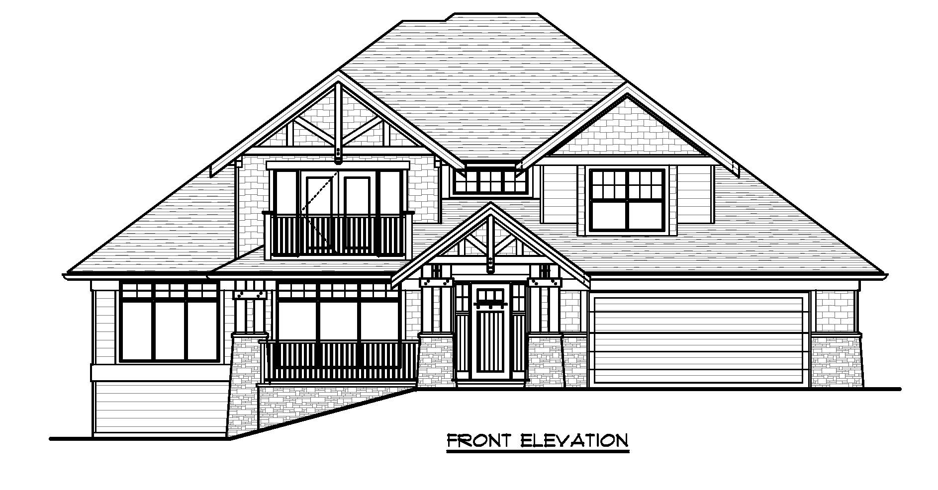 The Maplewood - Custom Home Floor Plan Exterior