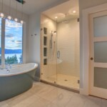 Master Bathroom View of Okanagan Lake