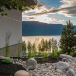 Beautiful garden view of Okanagan Lake