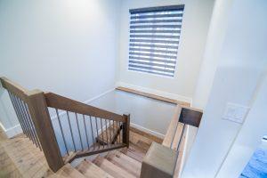 Hardwood stairwell McKinley Beach - Show Home - Custom Home (8)