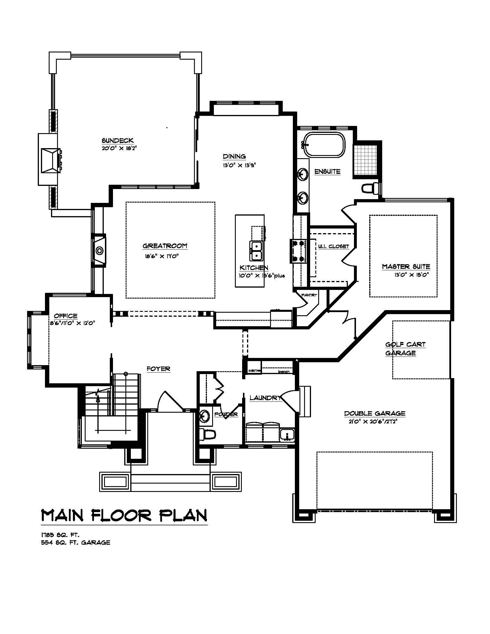 The Robson - Custom Home Floor Plan 3