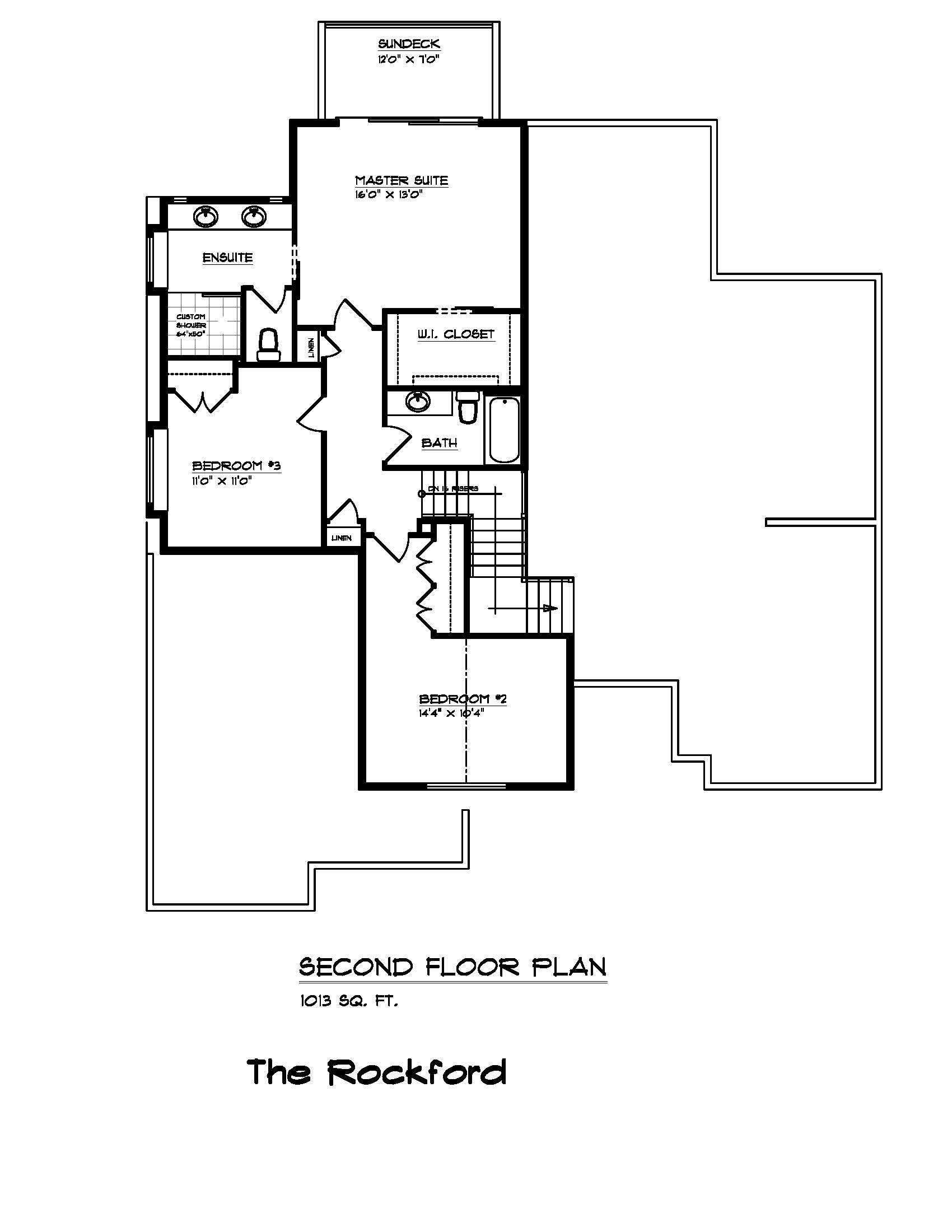The Rockford - Custom Home Floor Plan 3