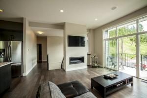The Cambridge - Custom Home Floor Plan Living Room