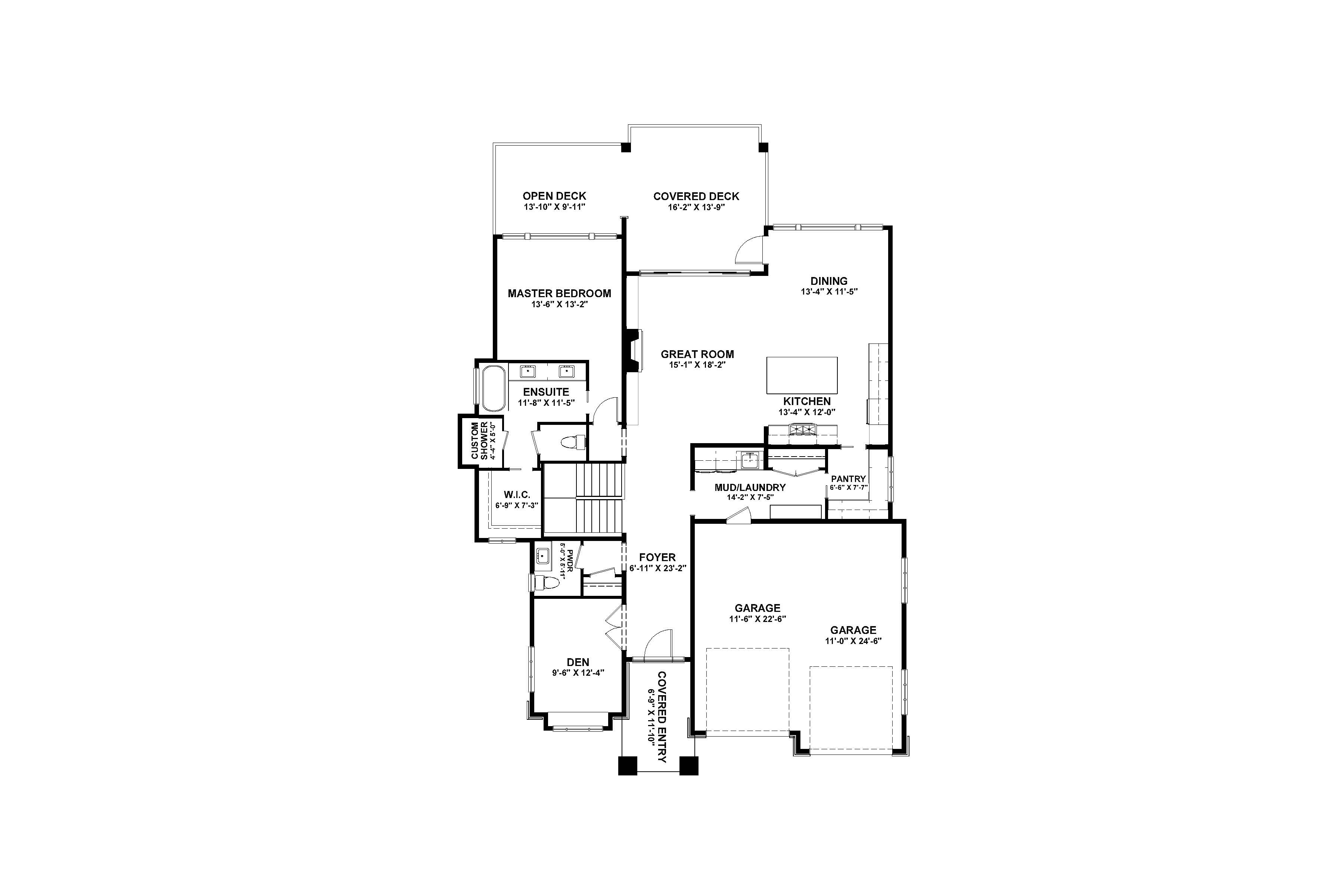 The Columbia Page 4 - Custom Home Plans / Elevations