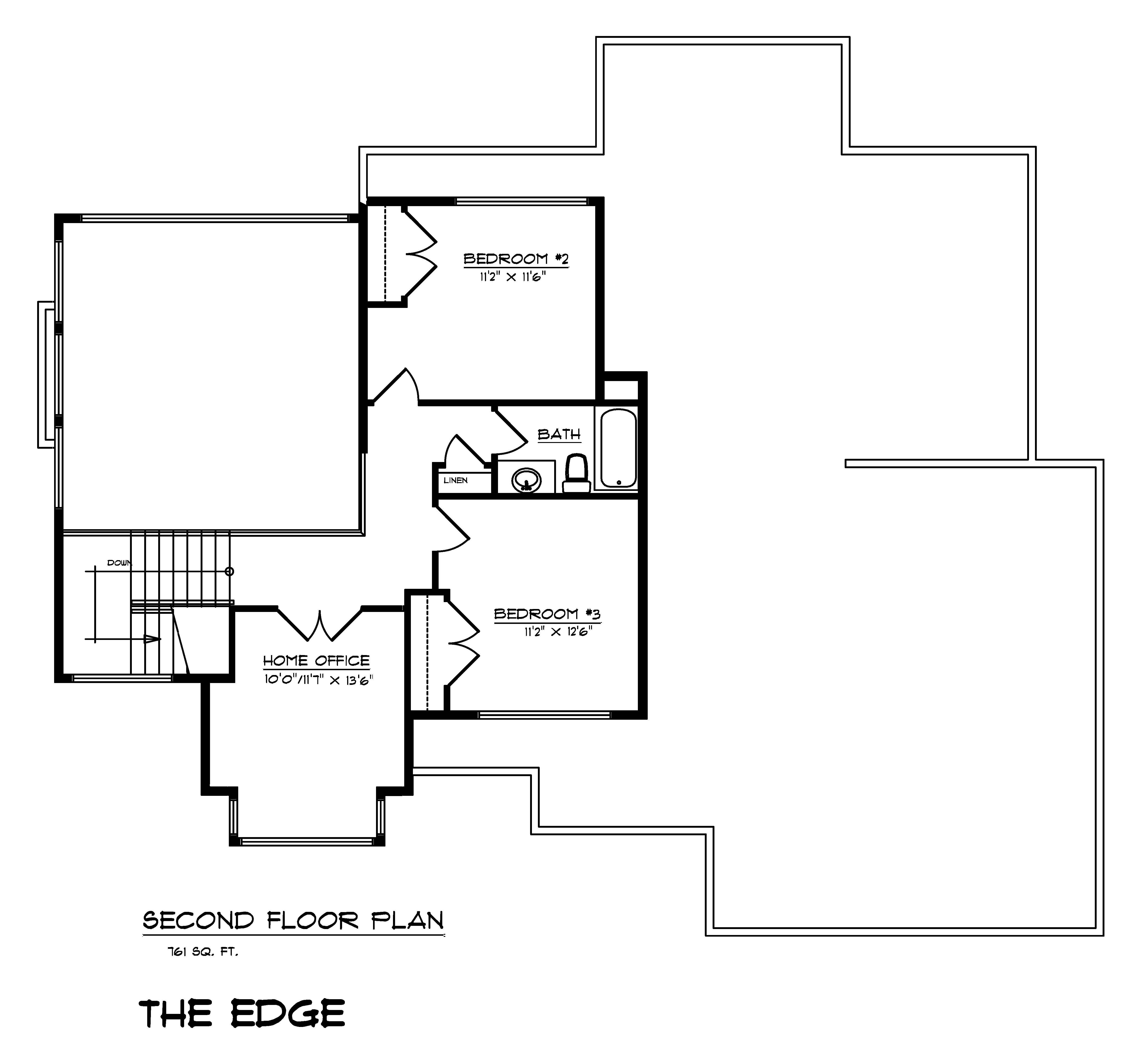 The Edge - Custom Home Floor Plan 1