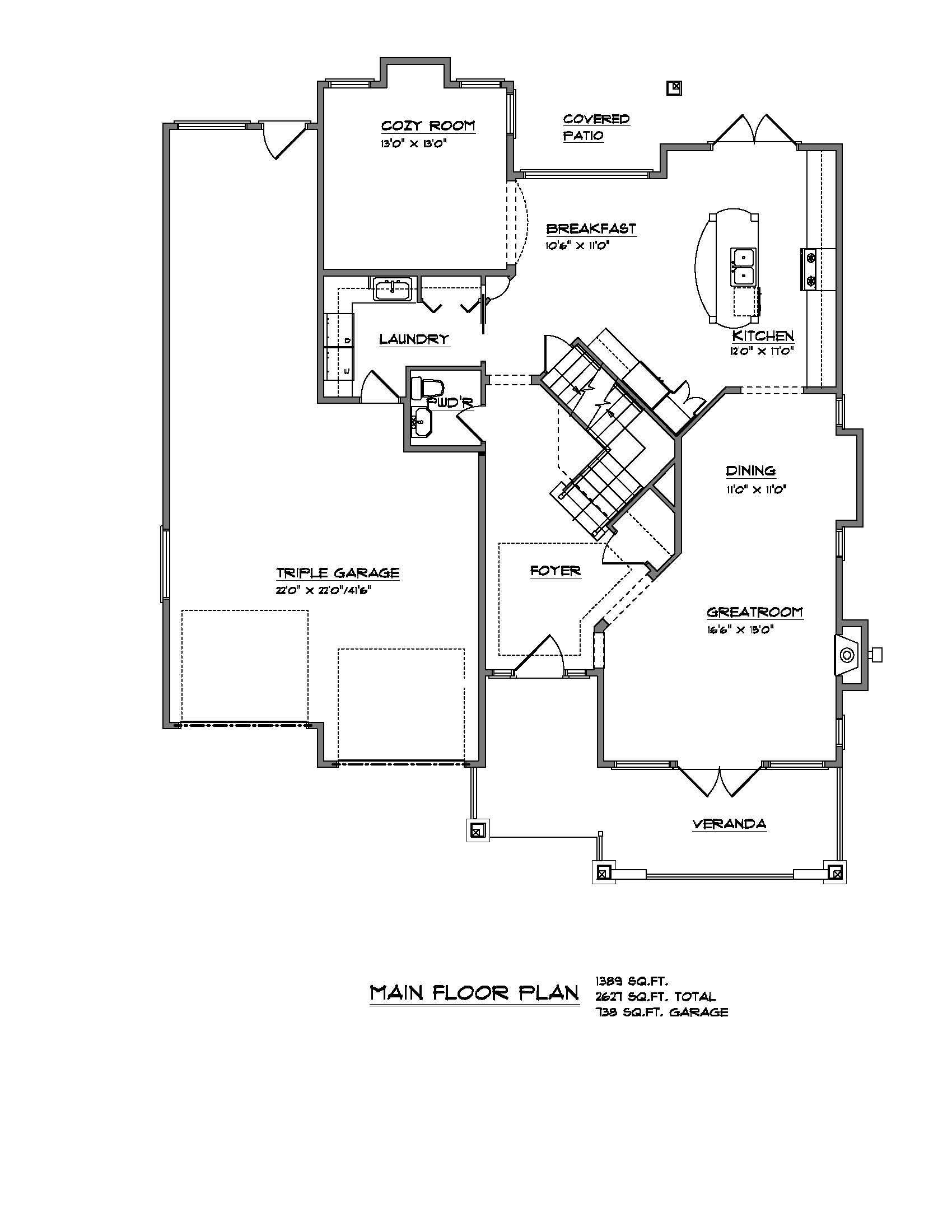 The Lynwood - Custom Home Floor Plan 2