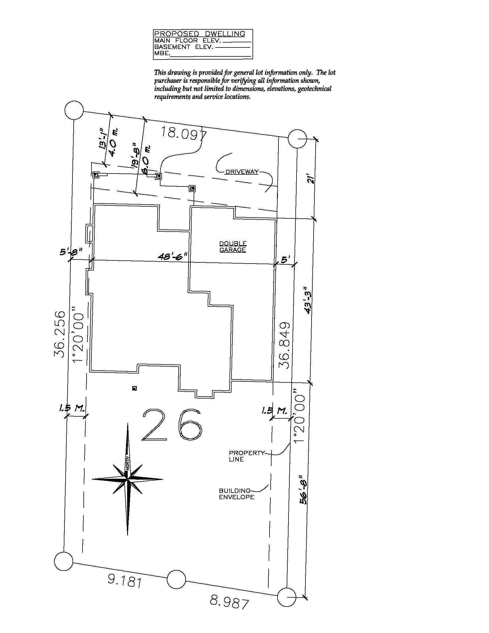The Rindle - Custom Home Floor Plan Lot Layout 2