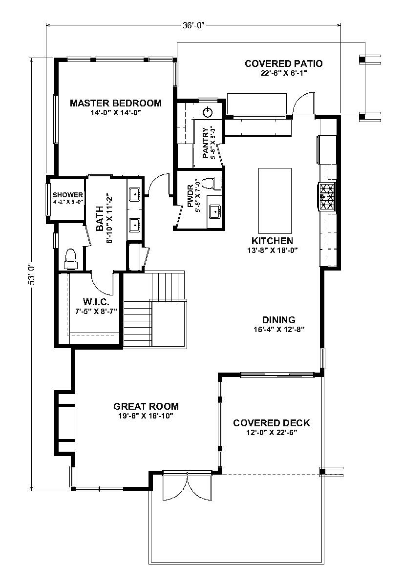 The Serenity - McKinley Beach - Custom Home Floor Plan 1