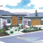 The Skyline Custom Home Plan Rendering