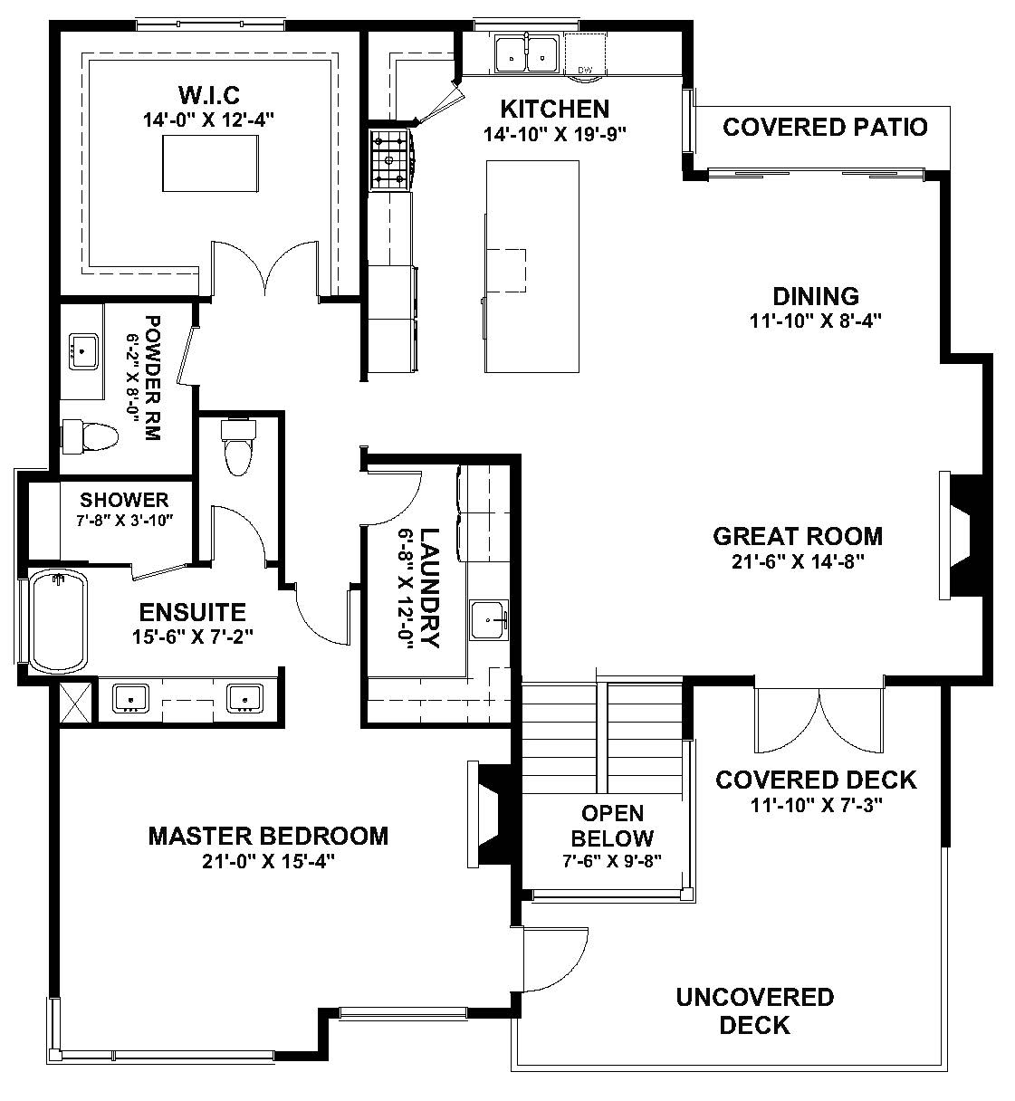 The Solitude - McKinley Beach - Custom Home Floor Plan 2