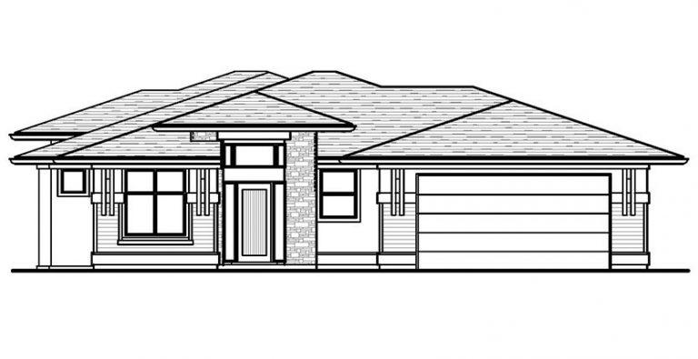 The Aldridge - Custom Home Floor Plan Exterior