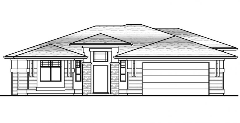 The Argyle - Custom Home Floor Plan Exterior