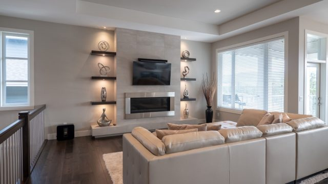 Begley - Forest Edge - Wilden (1), Living Room Fireplace Lighting