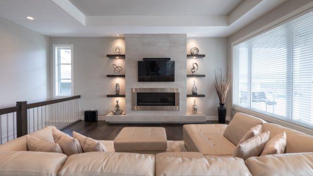 Begley - Forest Edge - Wilden (2), Living Room Fireplace Lighting