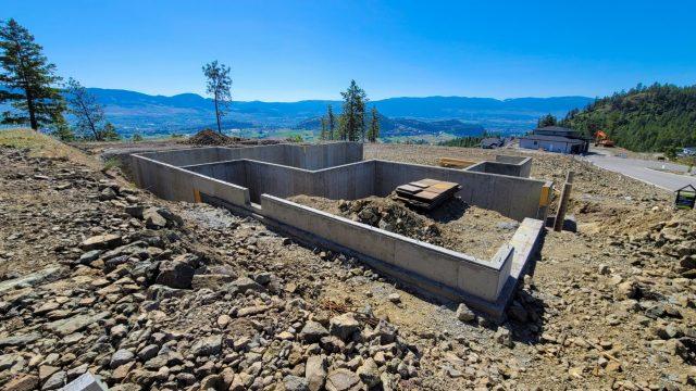 Echo Ridge Lot 101, Foundation Done