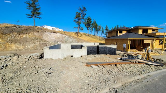 Echo Ridge Lot 70, Foundation Done