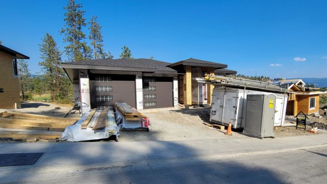 Hidden Lake Lot-13, Garage Doors In Place