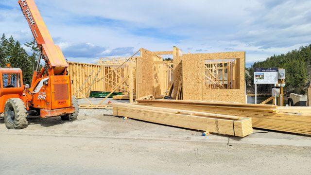 Hilltown Lot-3, Framing Well Underway