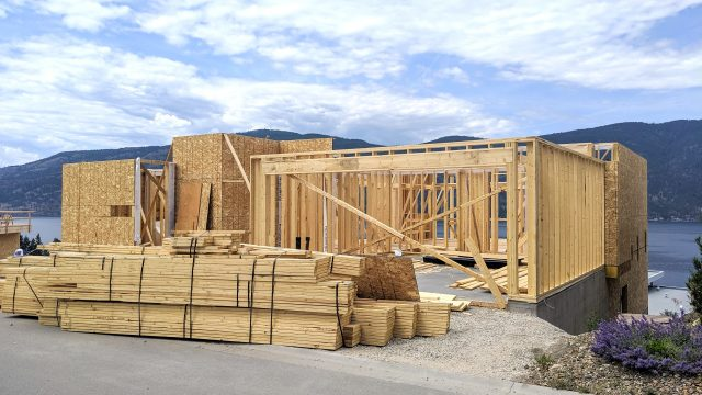 McKinley Beach Lot25S2, Roof Framework About to Begin