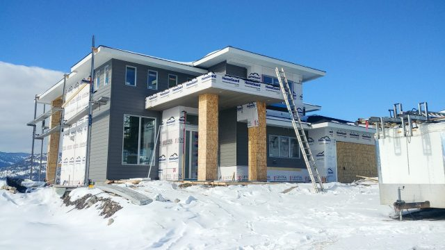 Red Sky Court Lot 68, Siding Going On