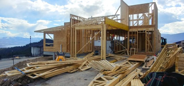 Rocky Point Lot 17, Busy Framing Going Up