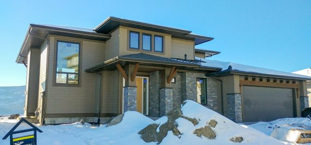 Rocky Point Lot 24, Exterior Rock Work Done