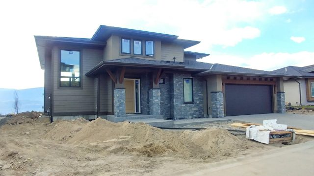 Rocky Point Lot 24, Landscaping time