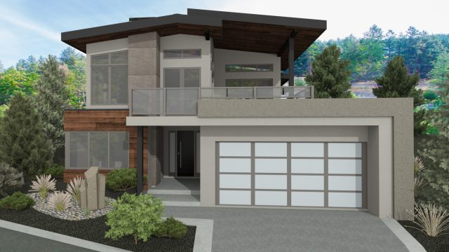 The Serenity Custom Home Plan Rendering