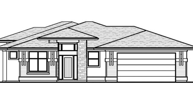 The Aldridge - Custom Home Floor Plan Exterior