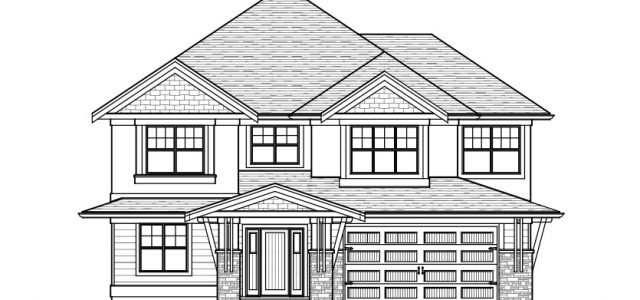 The Cambie - Custom Home Floor Plan Exterior