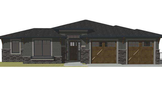 The Kino - Custom Home Floor Plan Exterior Rendering