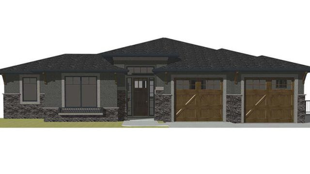 The Kino - Custom Home Floor Plan Exterior Rendering