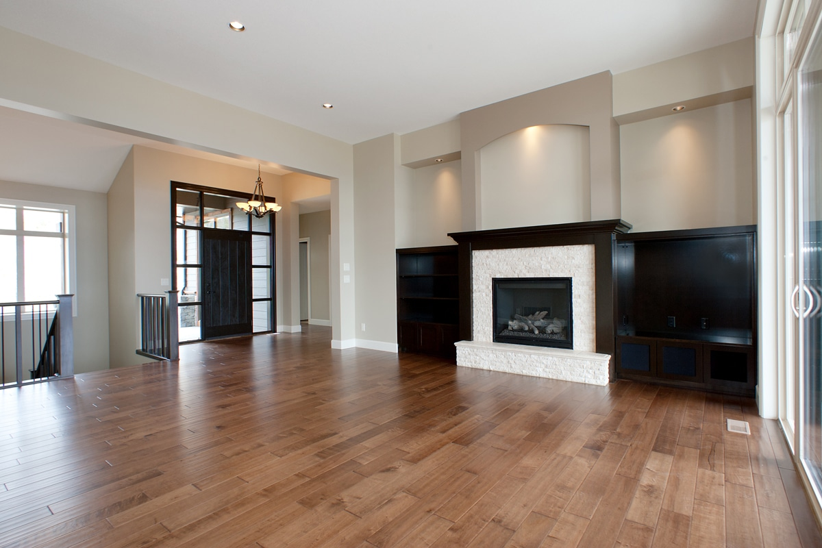 The Prestwick - Custom Home Floor Plan Entrance and Fireplace